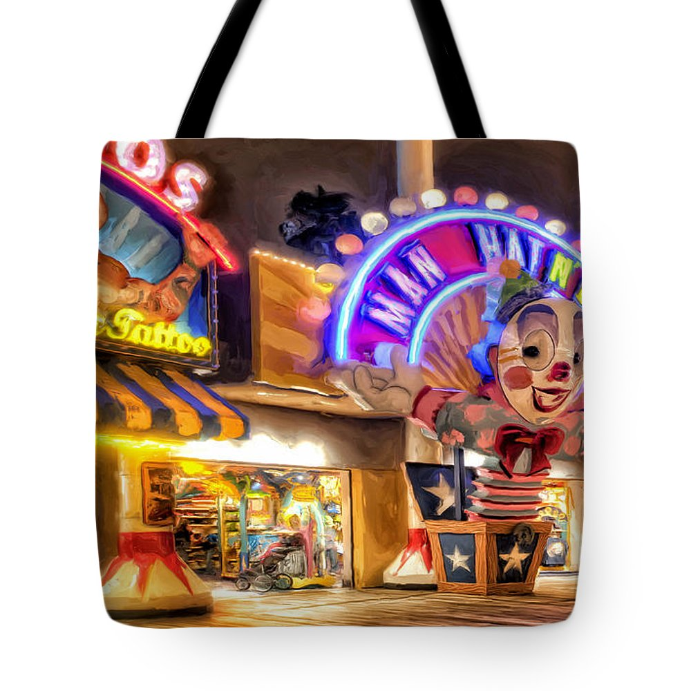 Disneyland Tote Bag featuring the painting Point Mugu Tattoo by Michael Pickett
