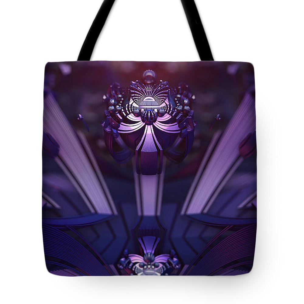 Fractal Tote Bag featuring the digital art Point Of Ascension by Jon Munson II