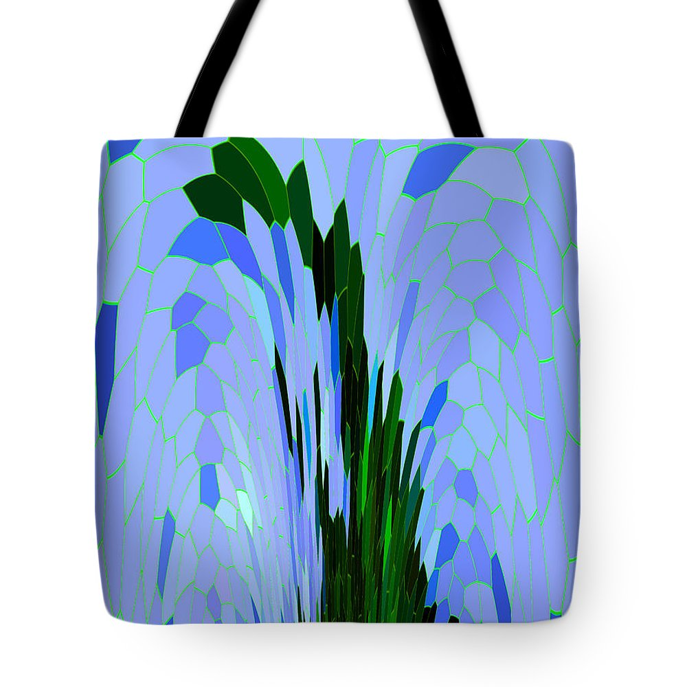Abstract Tote Bag featuring the digital art Point Of View by Mariarosa Rockefeller
