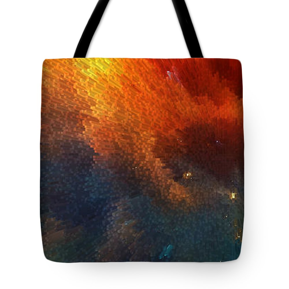 Points Of Light Abstract Art By Sharon Cummings Tote Bag