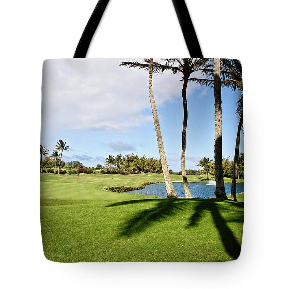 Golf Tote Bag featuring the photograph Poipu Bay #18 by Scott Pellegrin