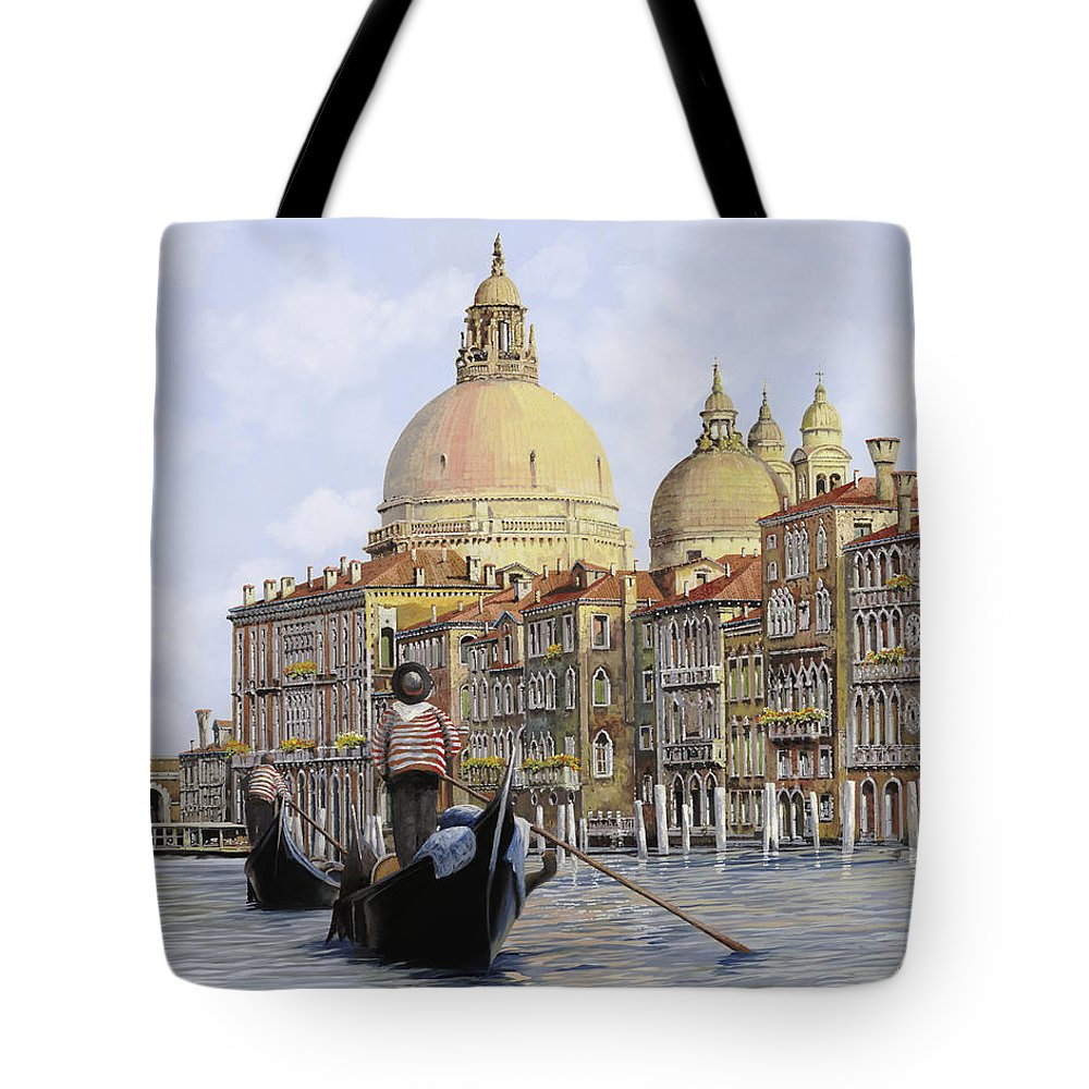 Venice Tote Bag featuring the painting Pomeriggio A Venezia by Guido Borelli