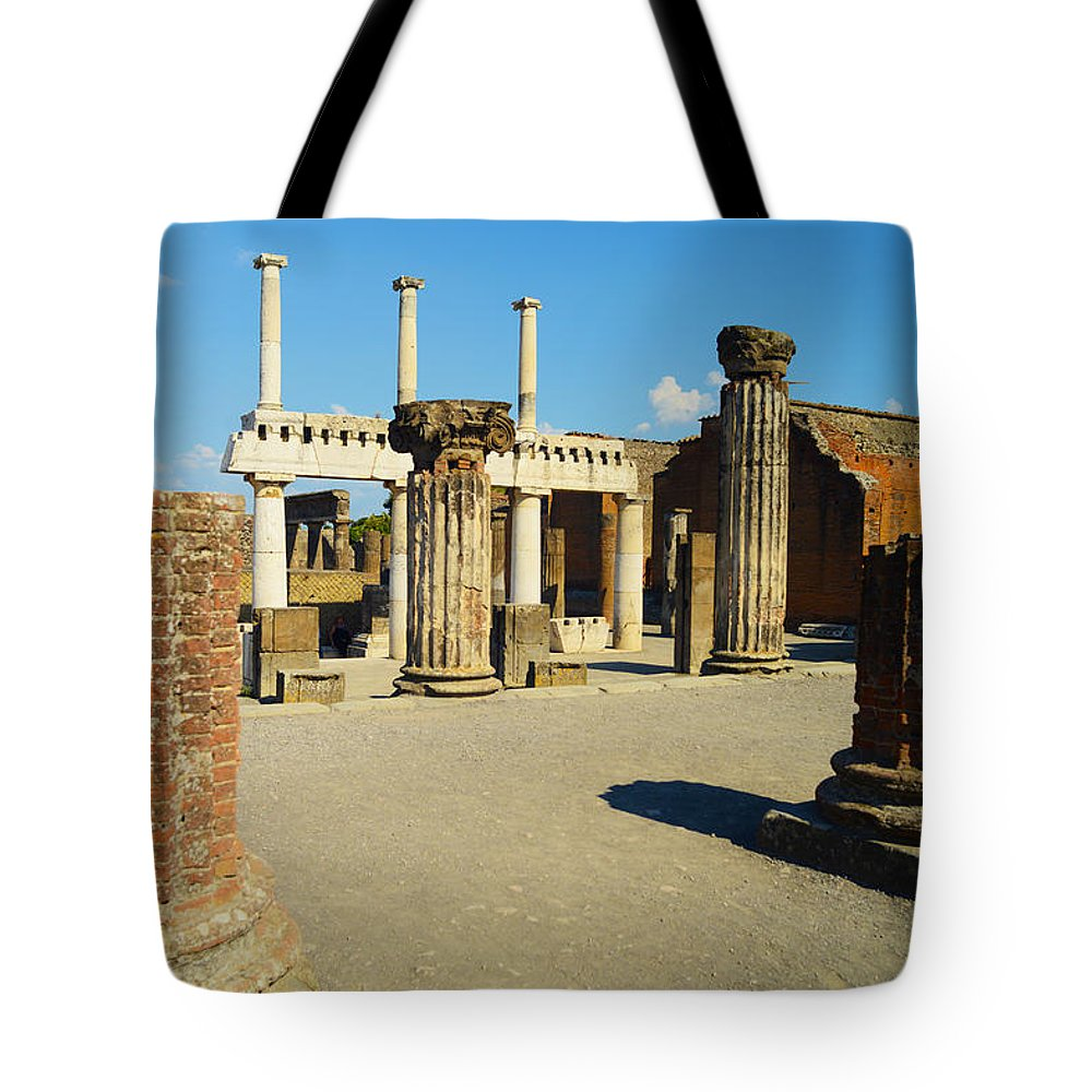 Pompeii Tote Bag featuring the photograph Pompeii In Ruins by Phill Petrovic