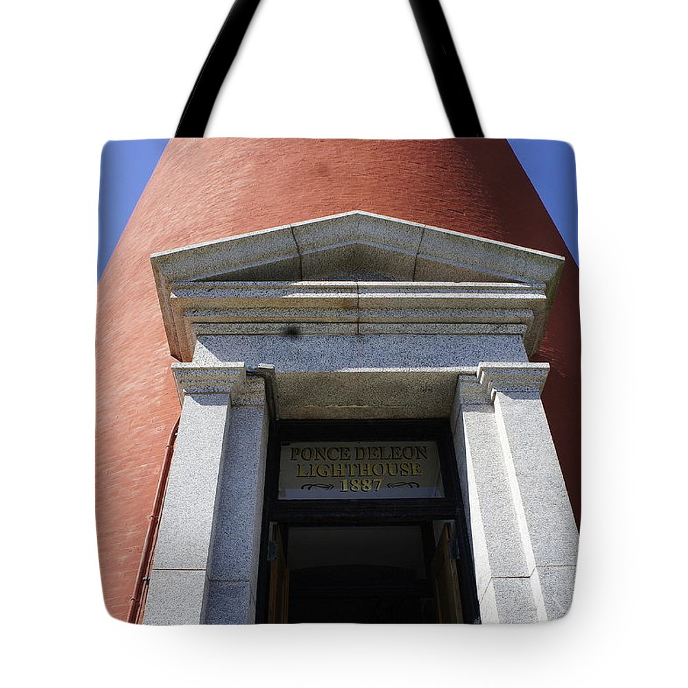 Entrance Tote Bag featuring the photograph Ponce Entrance by Laurie Perry