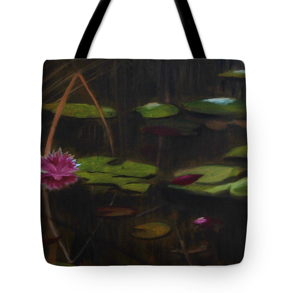 Landscape Tote Bag featuring the painting Cathole by William Gambill