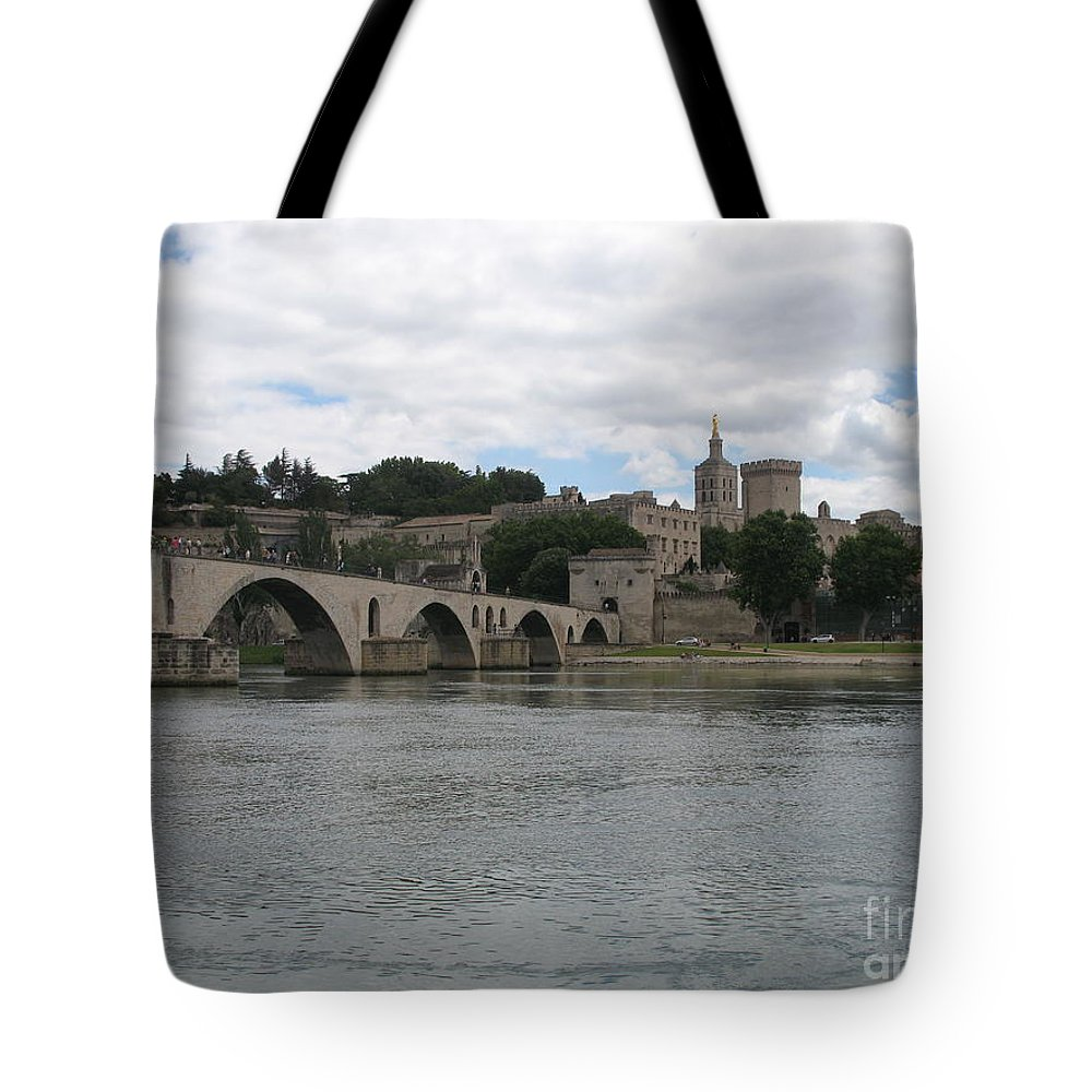 Bridge Tote Bag featuring the photograph Pont Saint Benezet And Pope Palace by Christiane Schulze Art And Photography
