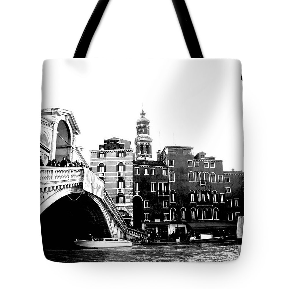 Venice Tote Bag featuring the photograph Ponte Realto by Eric Tressler