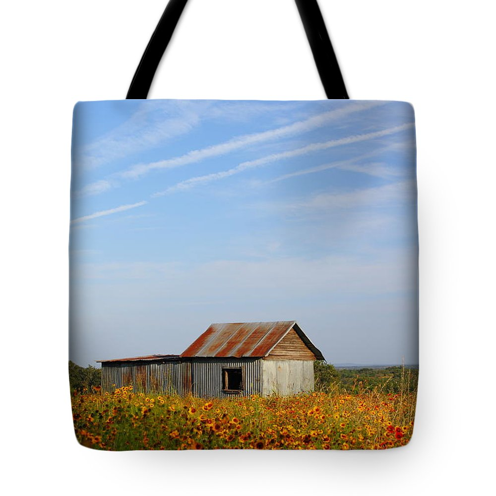 Pontotoc Tote Bag featuring the photograph Pontotoc Shed 2am-110573 by Andrew McInnes