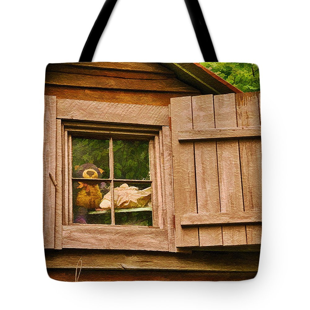 Pooh Tote Bag featuring the photograph Pooh In The Attic by Priscilla Burgers