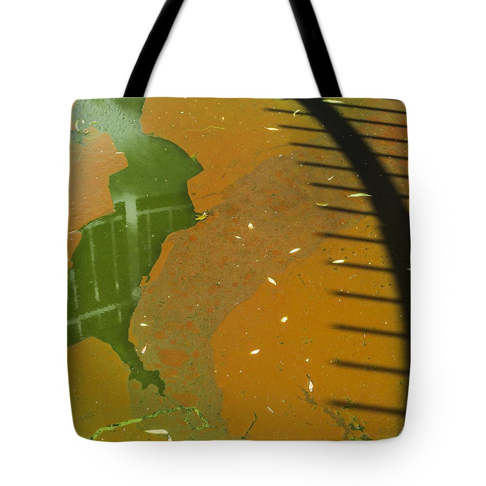 Puddle Tote Bag featuring the photograph Pool- Reflection And Shadow by Bruce Frye