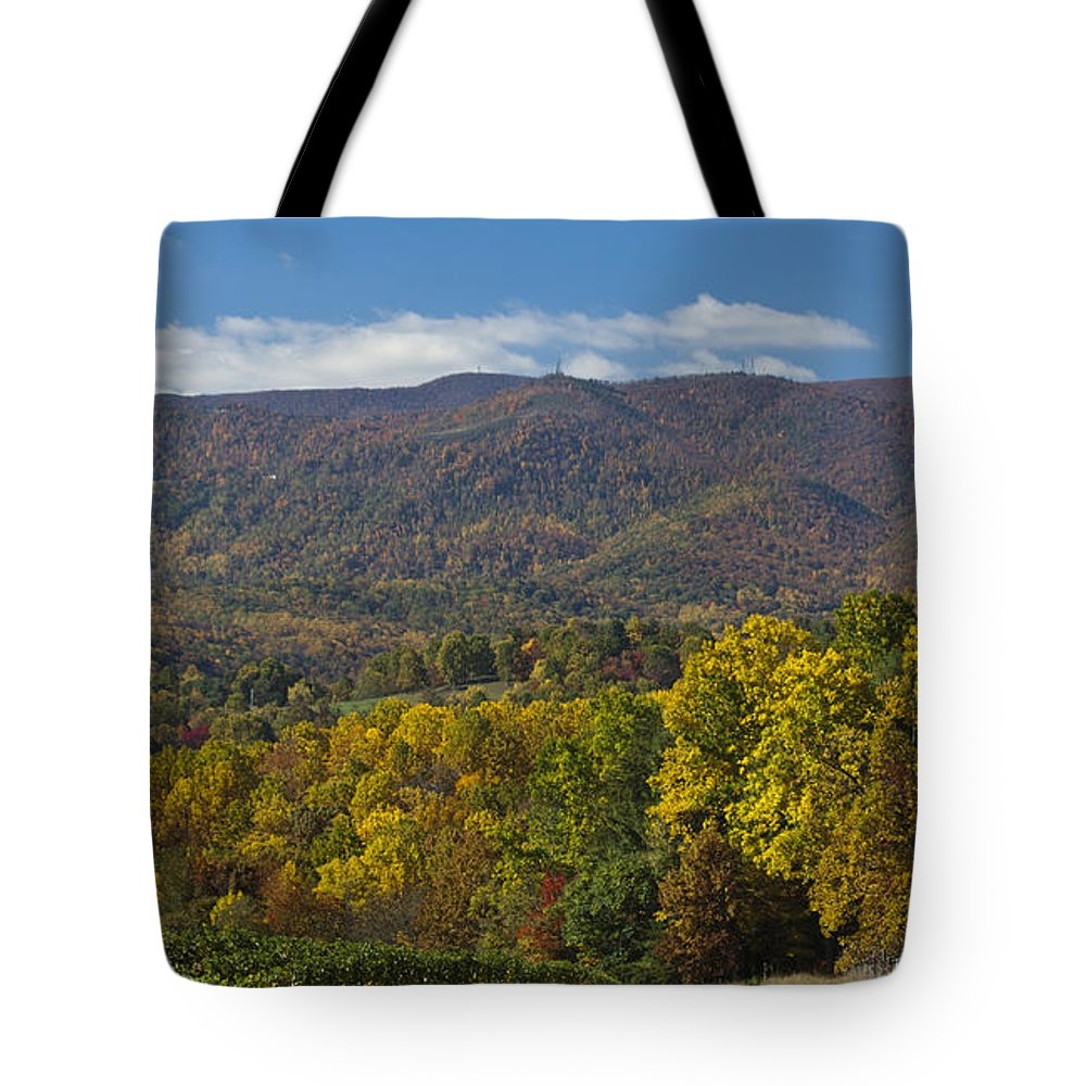 Fall Tote Bag featuring the photograph Poor Mountain by Teresa Mucha