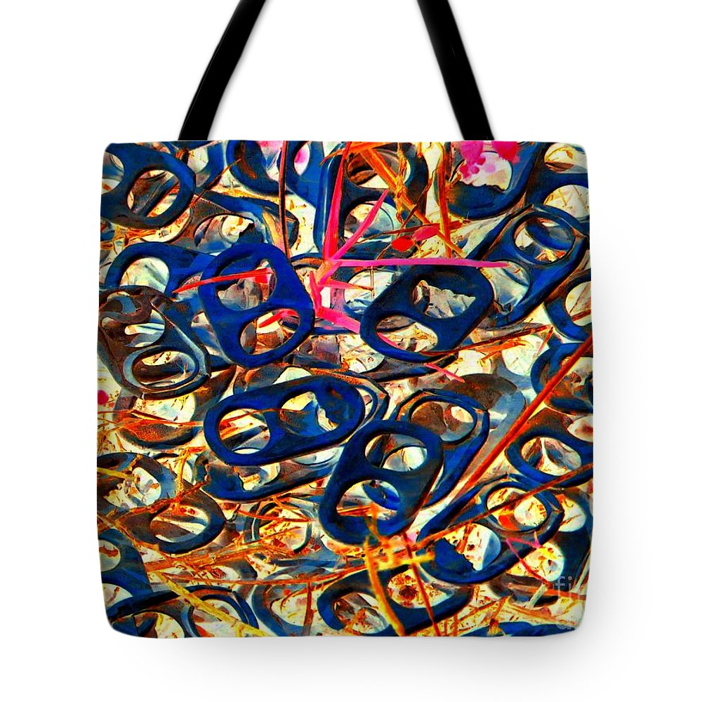 Abstract Tote Bag featuring the photograph Pop Art B14 by Rrrose Pix