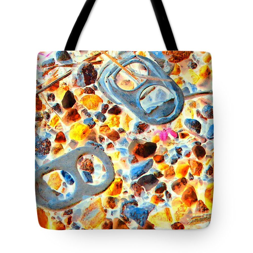 Abstract Tote Bag featuring the photograph Pop Art b16 by Rrrose Pix