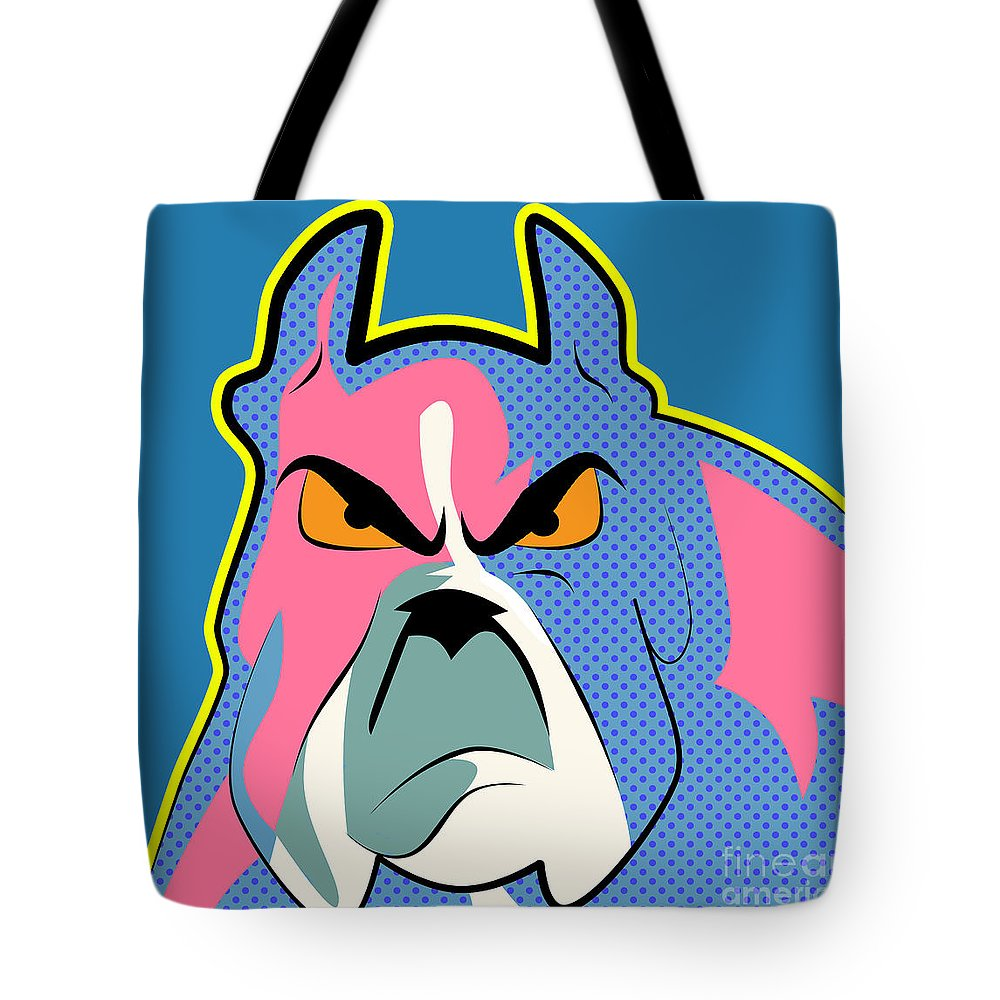 Pit Bull Digital Art Tote Bags