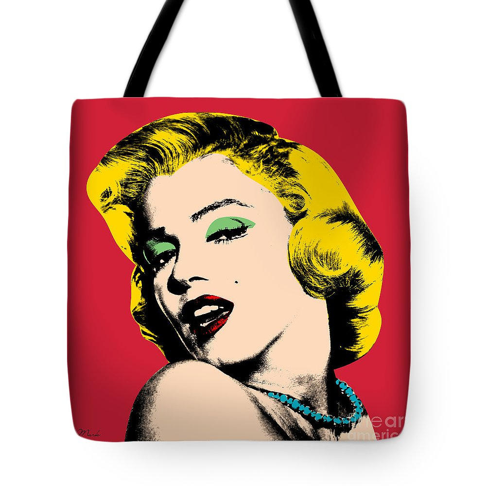 Pop Art Tote Bag featuring the painting Pop Art by Mark Ashkenazi