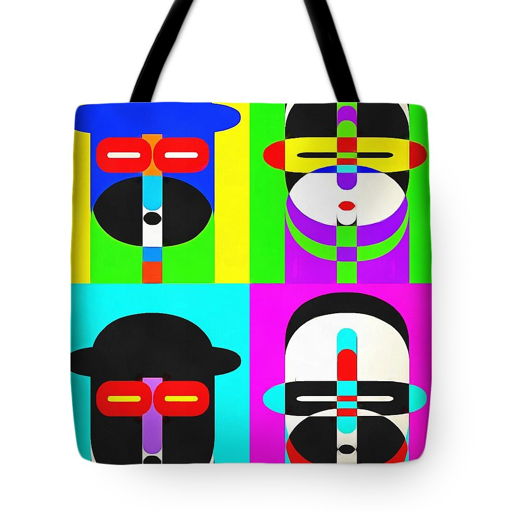 Pop Tote Bag featuring the photograph Pop Art People 4 2 by Edward Fielding