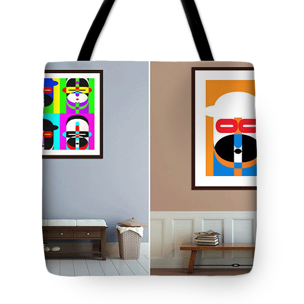 Artwork Tote Bag featuring the photograph Pop Art People On The Wall by Edward Fielding