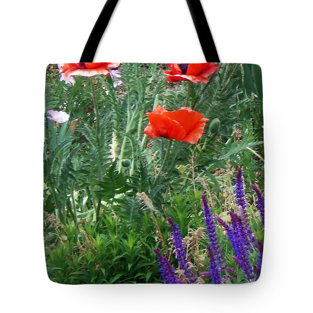 Poppy Tote Bag featuring the photograph Popping Color by Bobbee Rickard