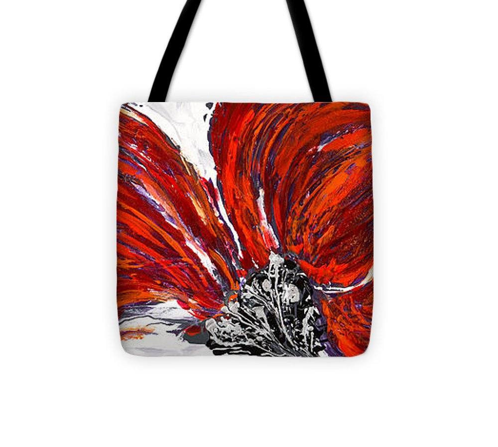 Poppy Tote Bag featuring the painting Poppy 44 by Sheila McPhee