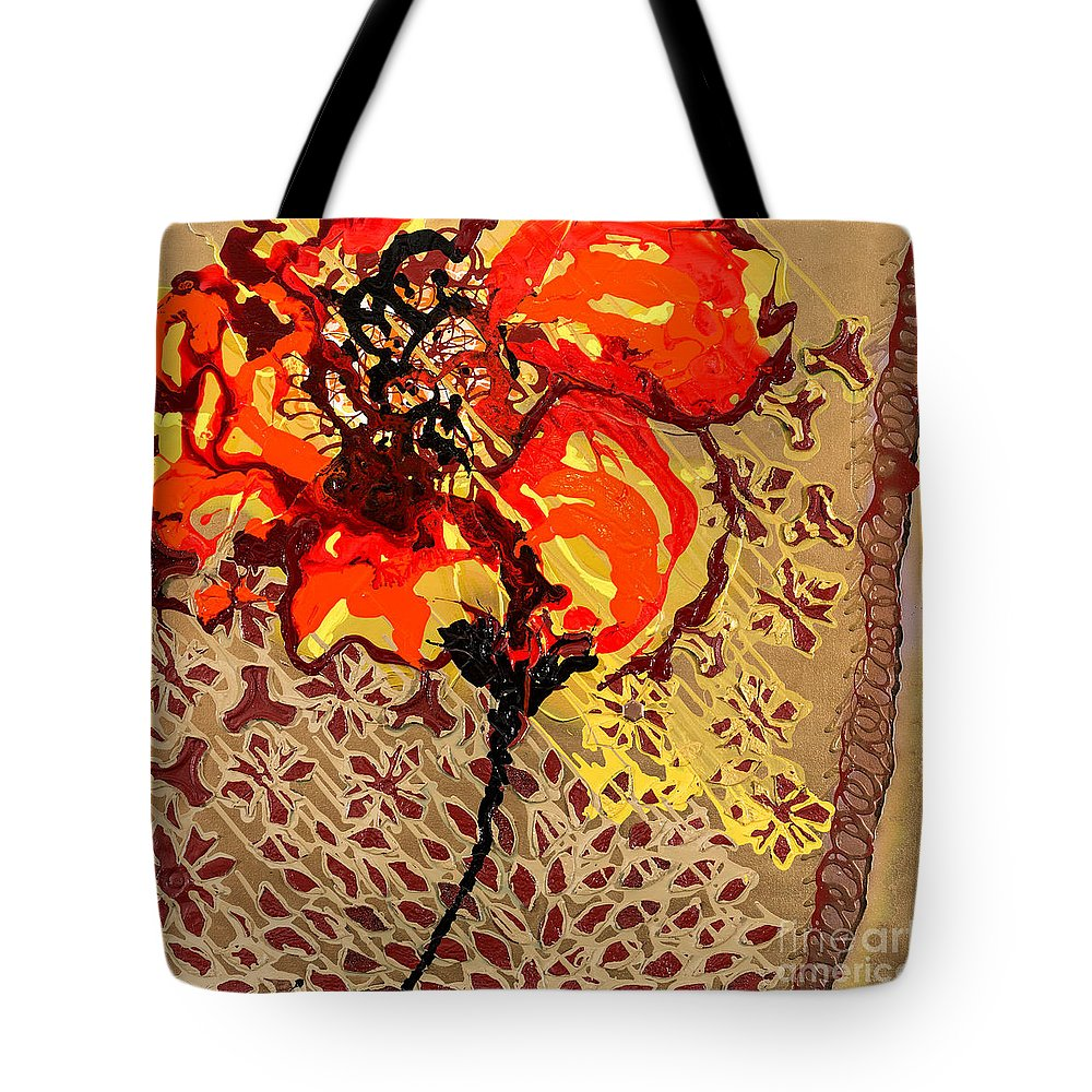 Poppy Tote Bag featuring the painting Poppy 50 by Sheila McPhee