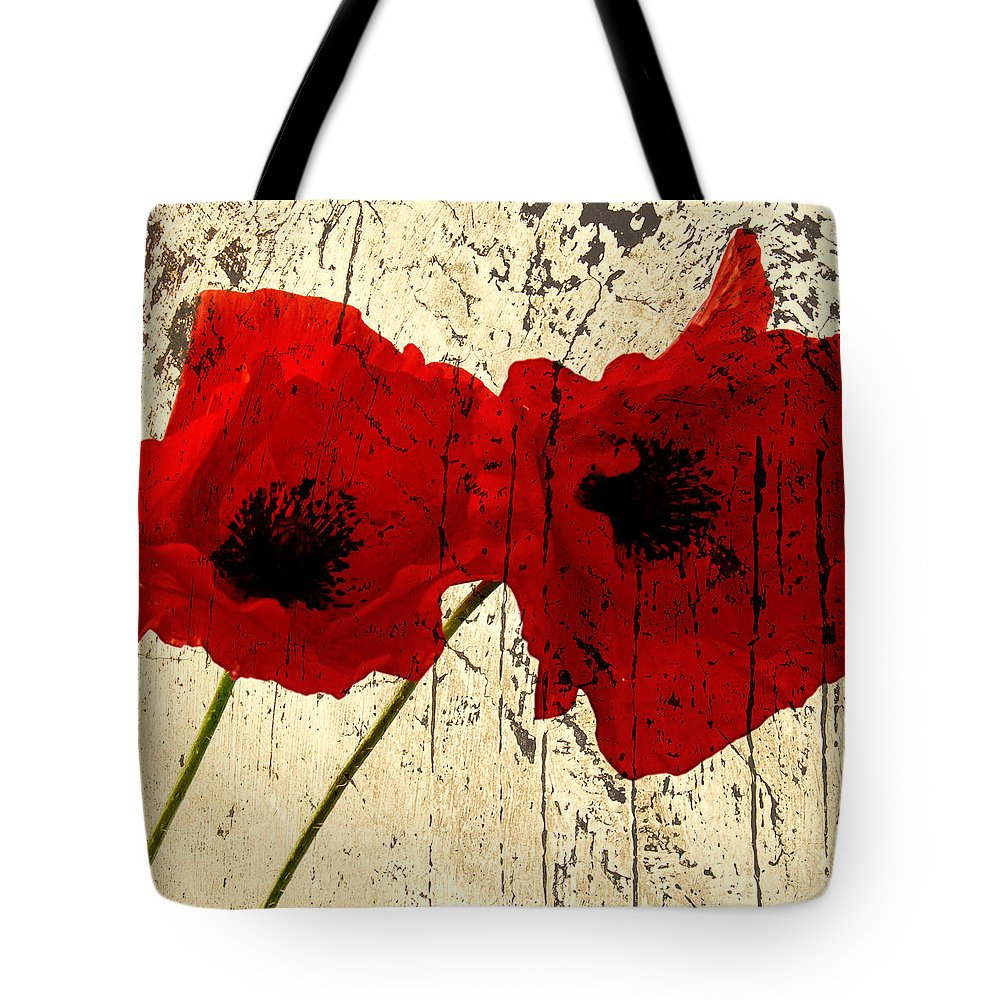 Background Tote Bag featuring the photograph Poppy Art by TouTouke A Y