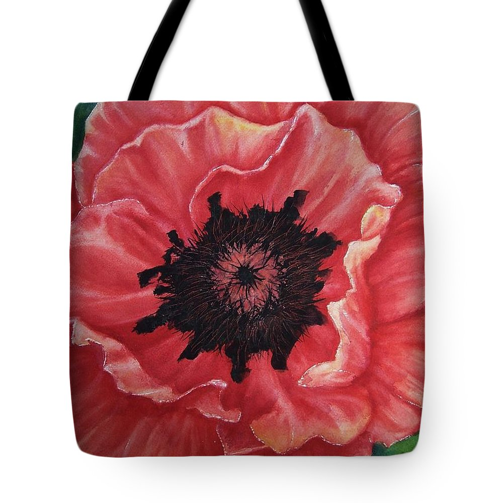 Poppy Tote Bag featuring the painting Poppy by Conni Reinecke