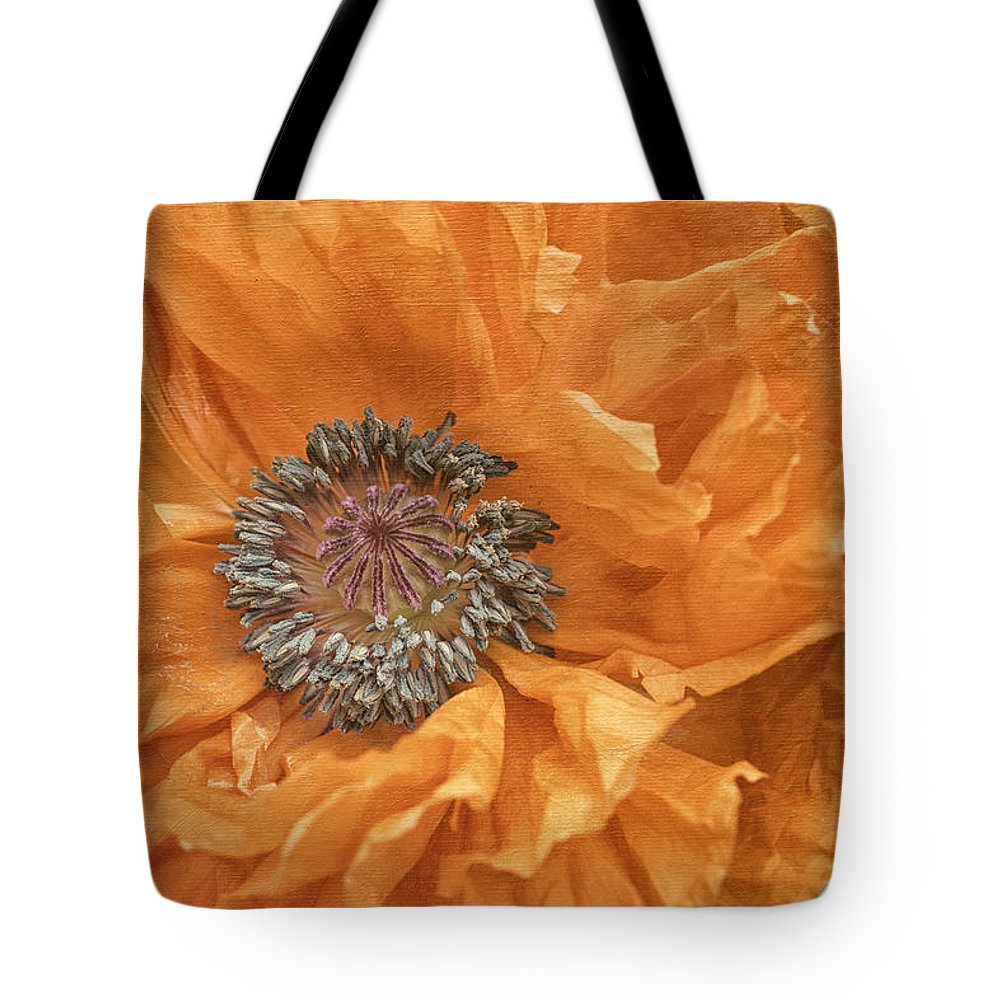 Flower Tote Bag featuring the photograph Poppy by Fran Gallogly