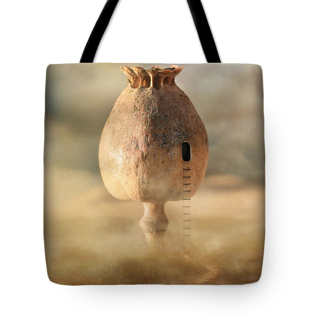 Scenery Tote Bag featuring the photograph Poppy House by Jaroslaw Blaminsky