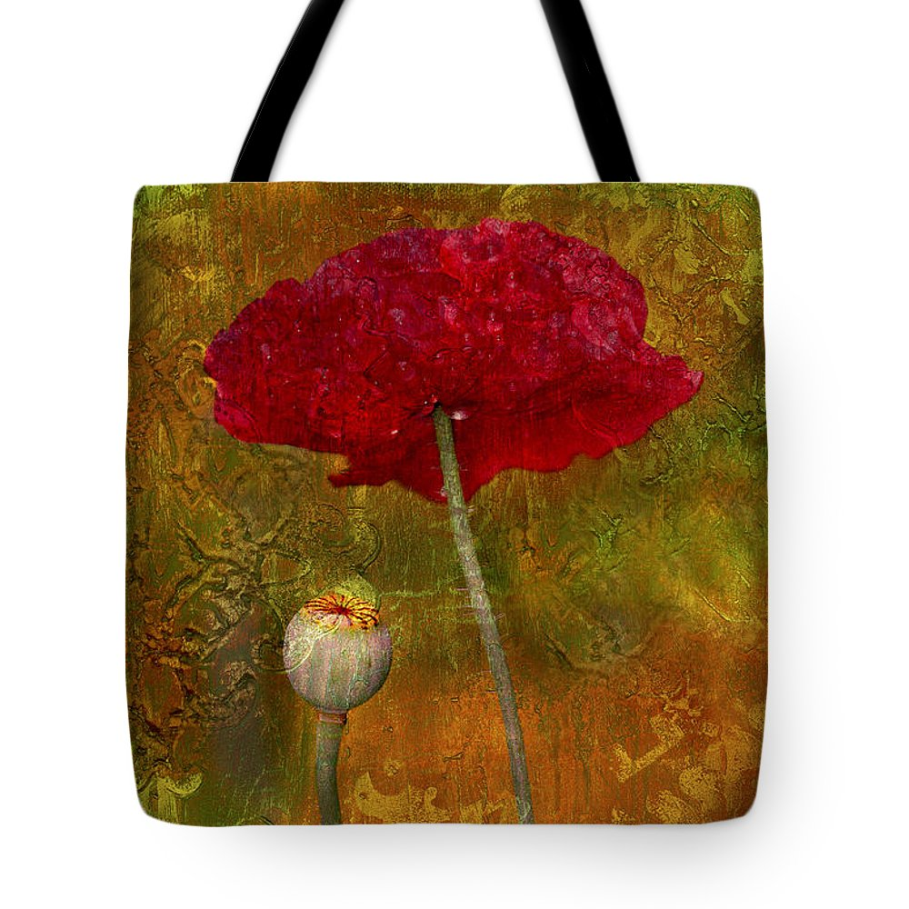 Poppy Tote Bag featuring the photograph Poppy II by Jeff Grabert