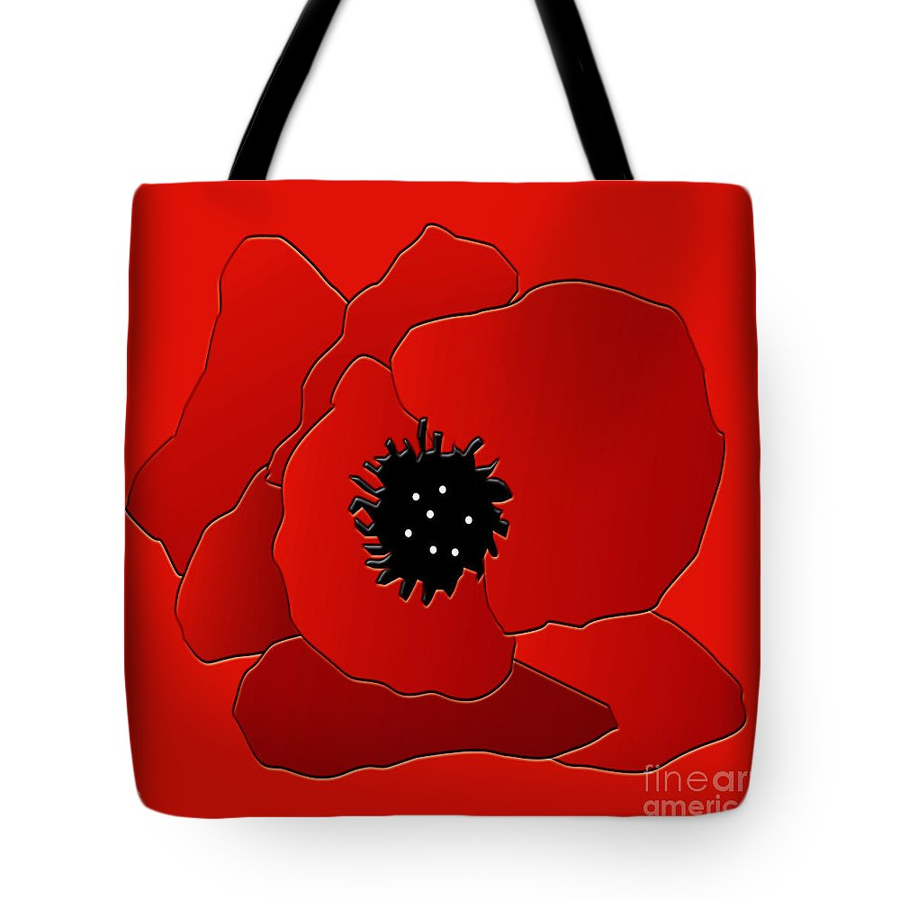 Poppy Tote Bag featuring the digital art Poppy by Neil Finnemore