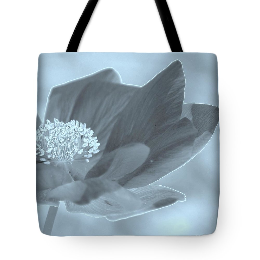 Poppy Tinge Tote Bag featuring the digital art Poppy Tinge by Maria Urso