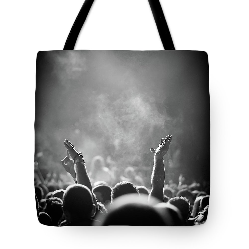Rock Music Tote Bag featuring the photograph Popular Music Concert by Alenpopov