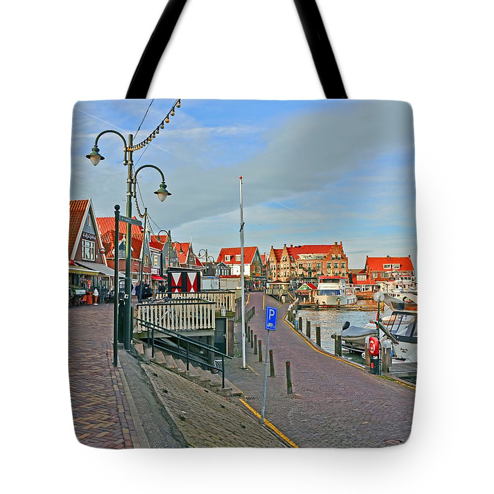 Travel Tote Bag featuring the photograph Port Of Volendam by Elvis Vaughn