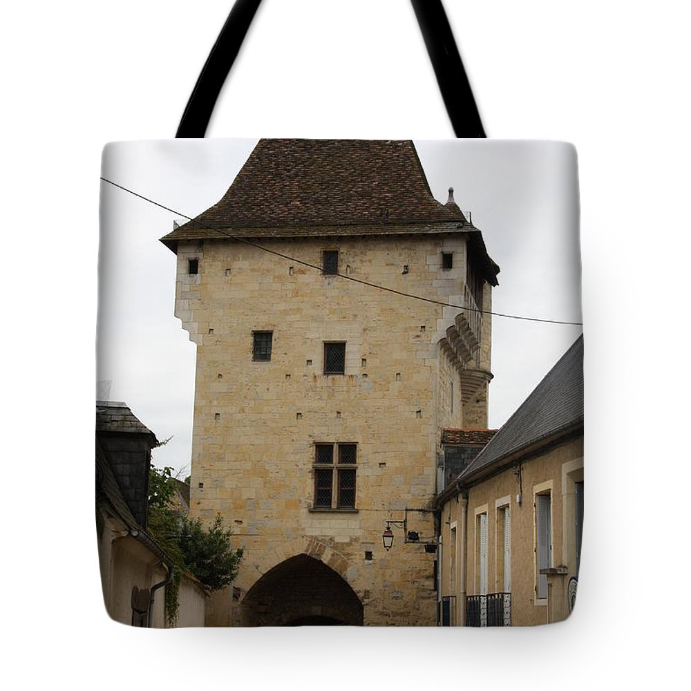 Town Gate Tote Bag featuring the photograph Porte Du Croux - Nevers by Christiane Schulze Art And Photography