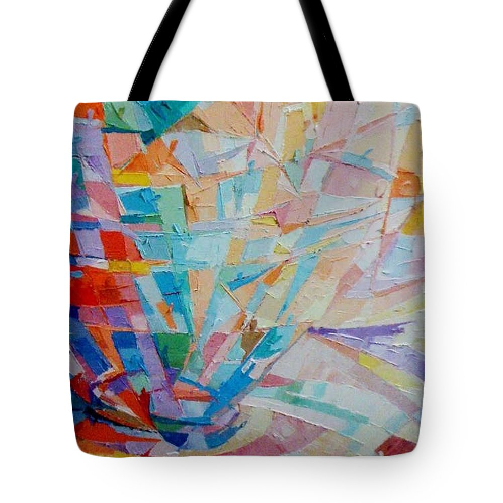 Conceptual Tote Bag featuring the painting porter's vessel II by Kayode Karunwi