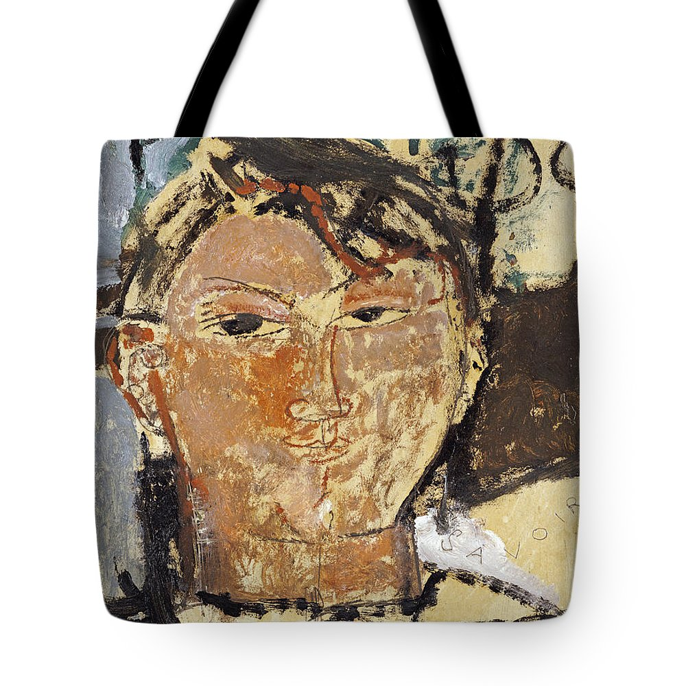 Amedeo Modigliani Tote Bag featuring the painting Portrait De Picasso by Celestial Images
