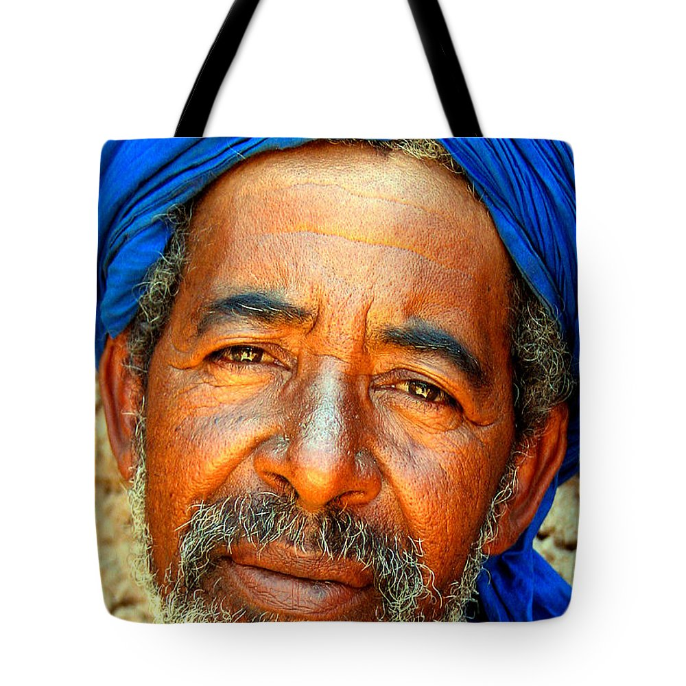 Berber Man Tote Bag featuring the photograph Portrait Of A Berber Man by Ralph A Ledergerber-Photography
