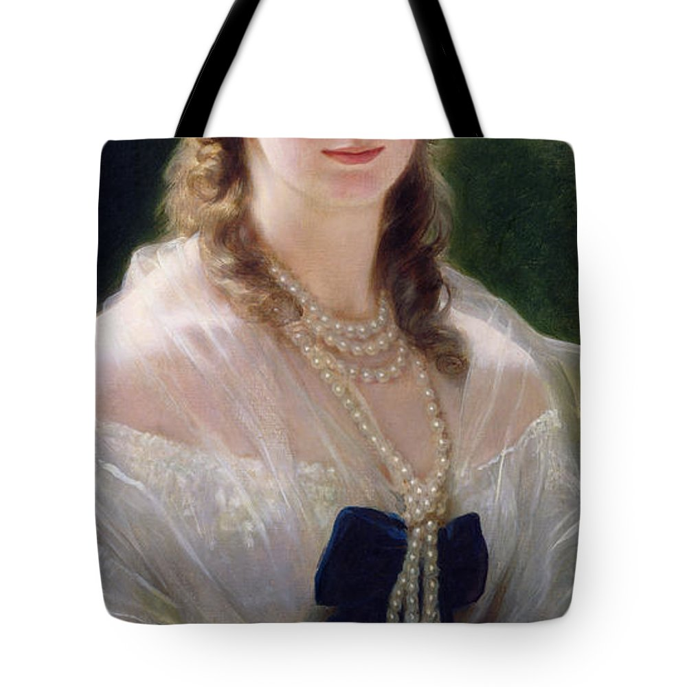 Troubetskoi Tote Bag featuring the painting Portrait Of Sophie Troubetskoy by Franz Xaver Winterhalter