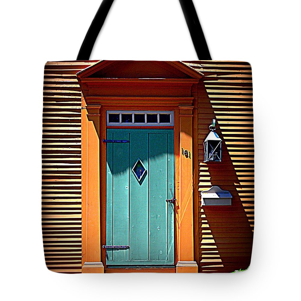 Portsmouth Tote Bag featuring the photograph Portsmouth Door 8 by Kevin Fortier