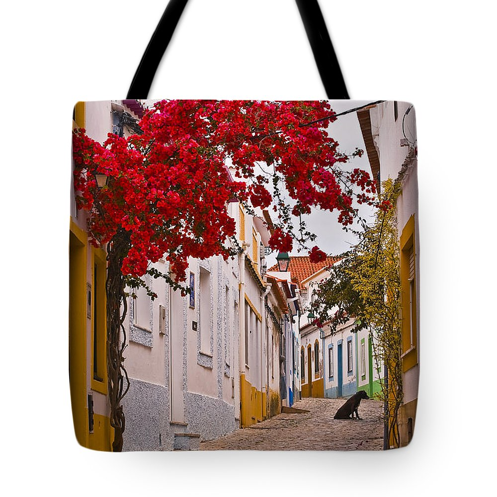 Street Tote Bag featuring the photograph Portuguese Back Street by Robert Mawby