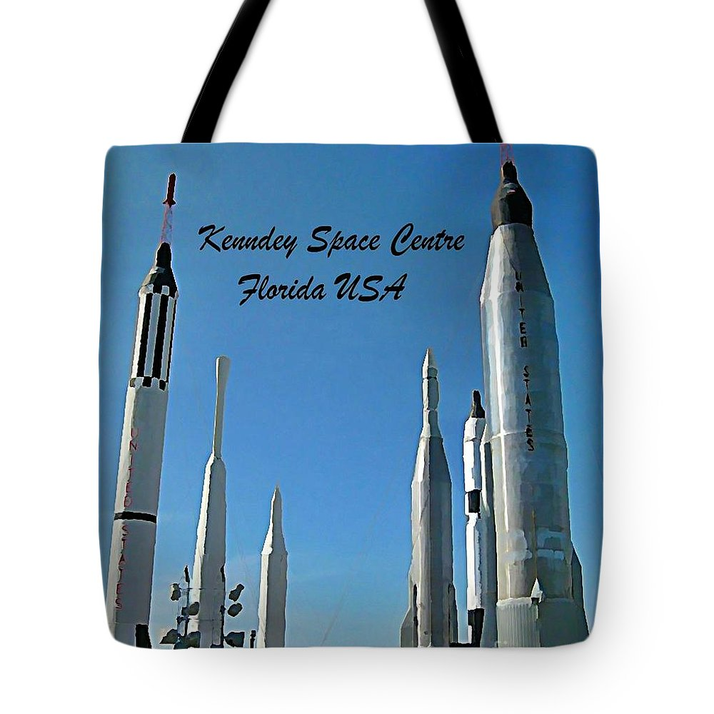 Post Card Of The Kennedy Space Centre Florida Tote Bag featuring the photograph Post Card Of The Kennedy Space Centre Florida by John Malone