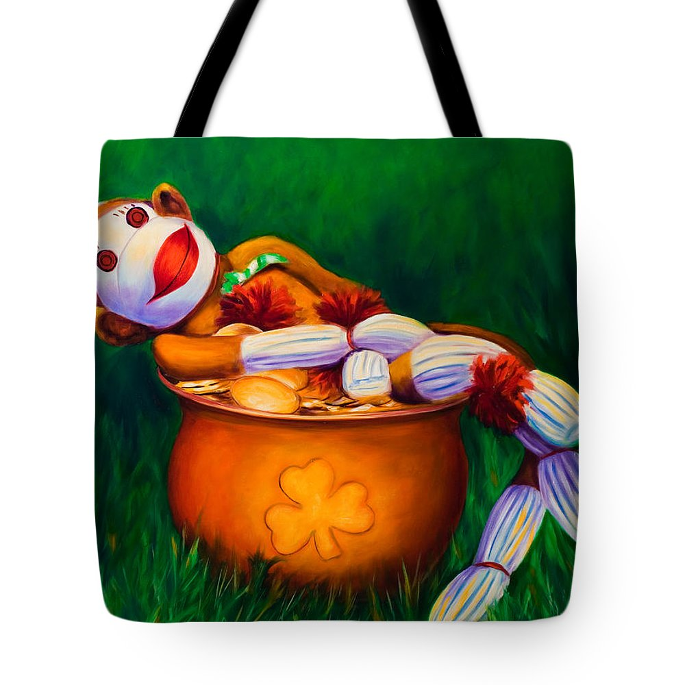 St. Patrick's Day Tote Bag featuring the painting Pot O Gold by Shannon Grissom