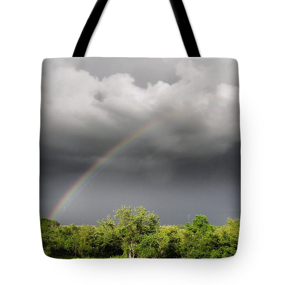 Clouds Tote Bag featuring the photograph Pot Of Gold by Shannon Story
