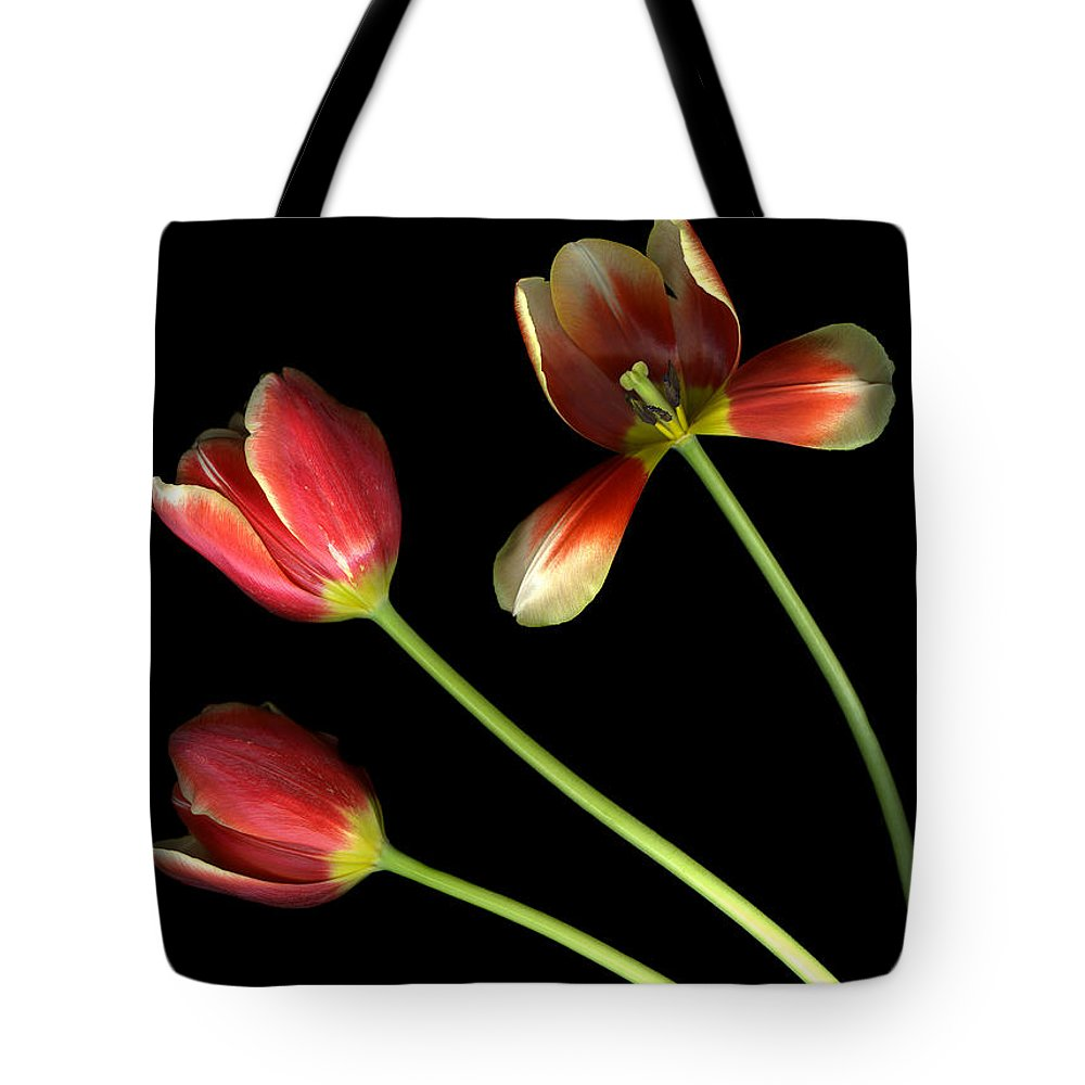 Scanography Tote Bag featuring the photograph Pot Of Tulips by Christian Slanec