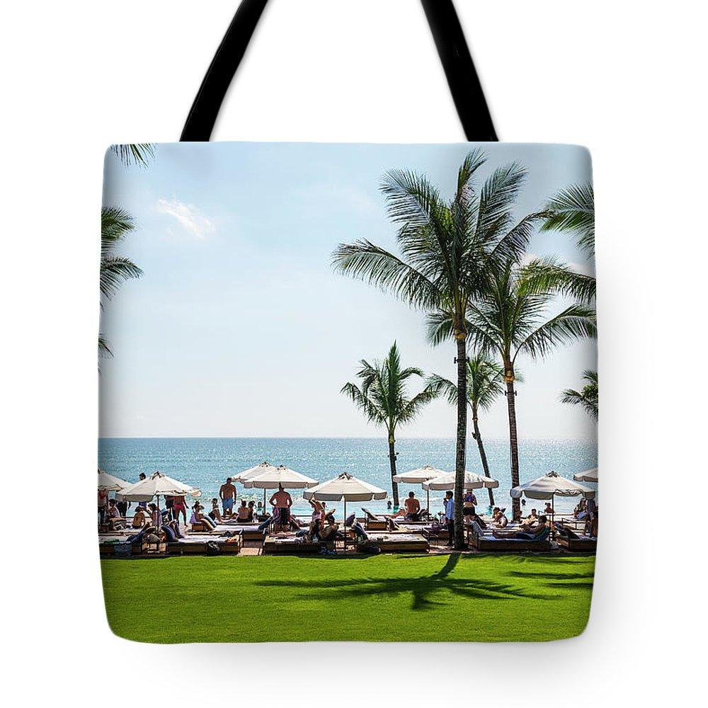 Scenics Tote Bag featuring the photograph Potatoe Head Beach Bar, Seminyak, Bali by John Harper