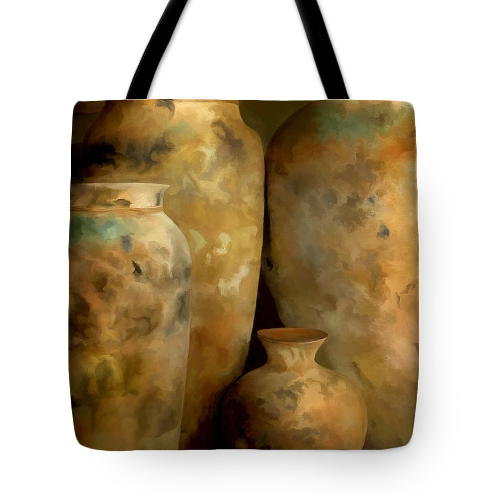 Still Life Tote Bag featuring the painting Pots Of Time by Michael Pickett
