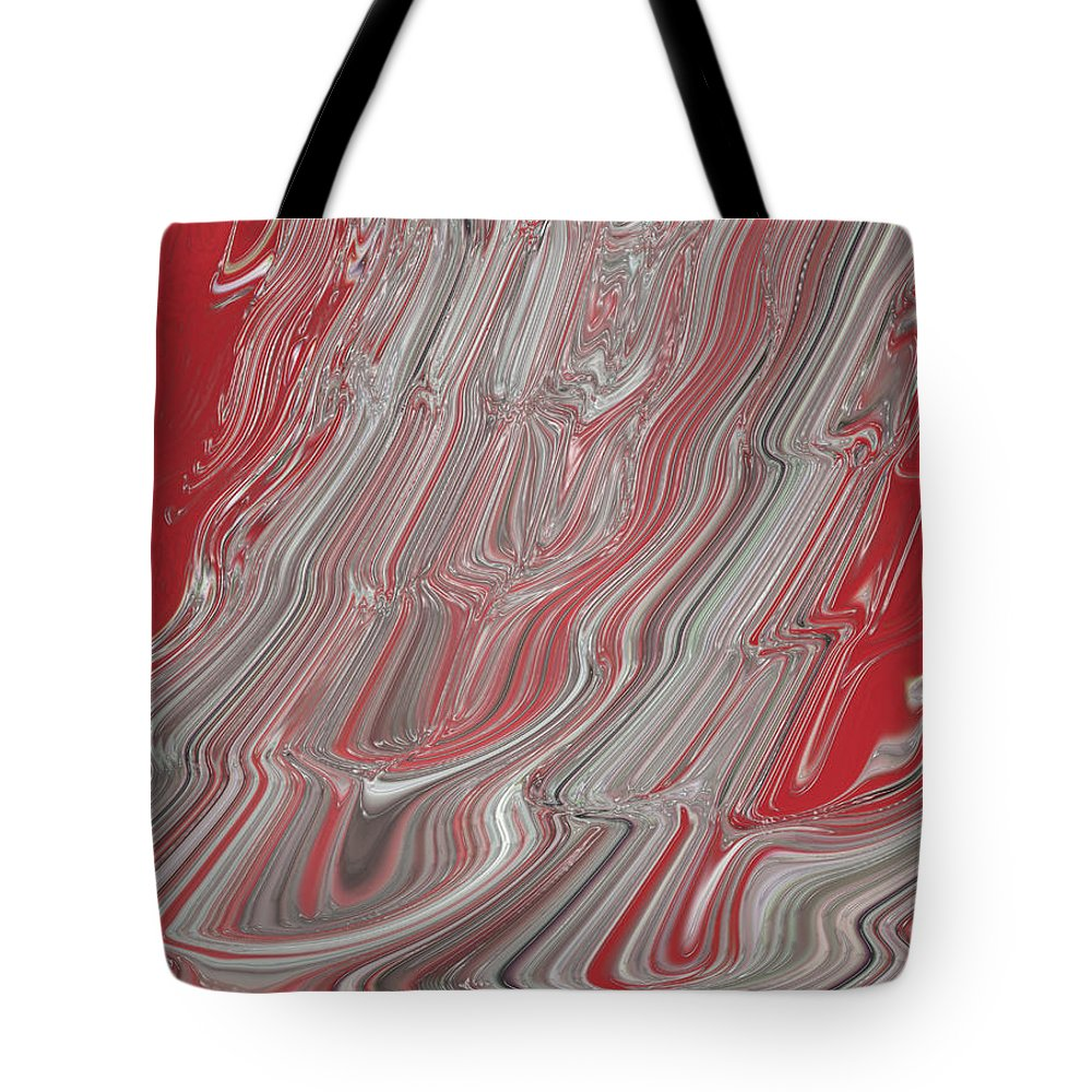 Pour Tote Bag featuring the digital art Pour It On Hot by Adri Turner
