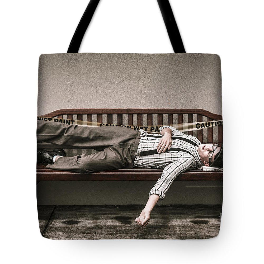 Asleep Tote Bag featuring the photograph Poverty Stricken Past by Jorgo Photography - Wall Art Gallery