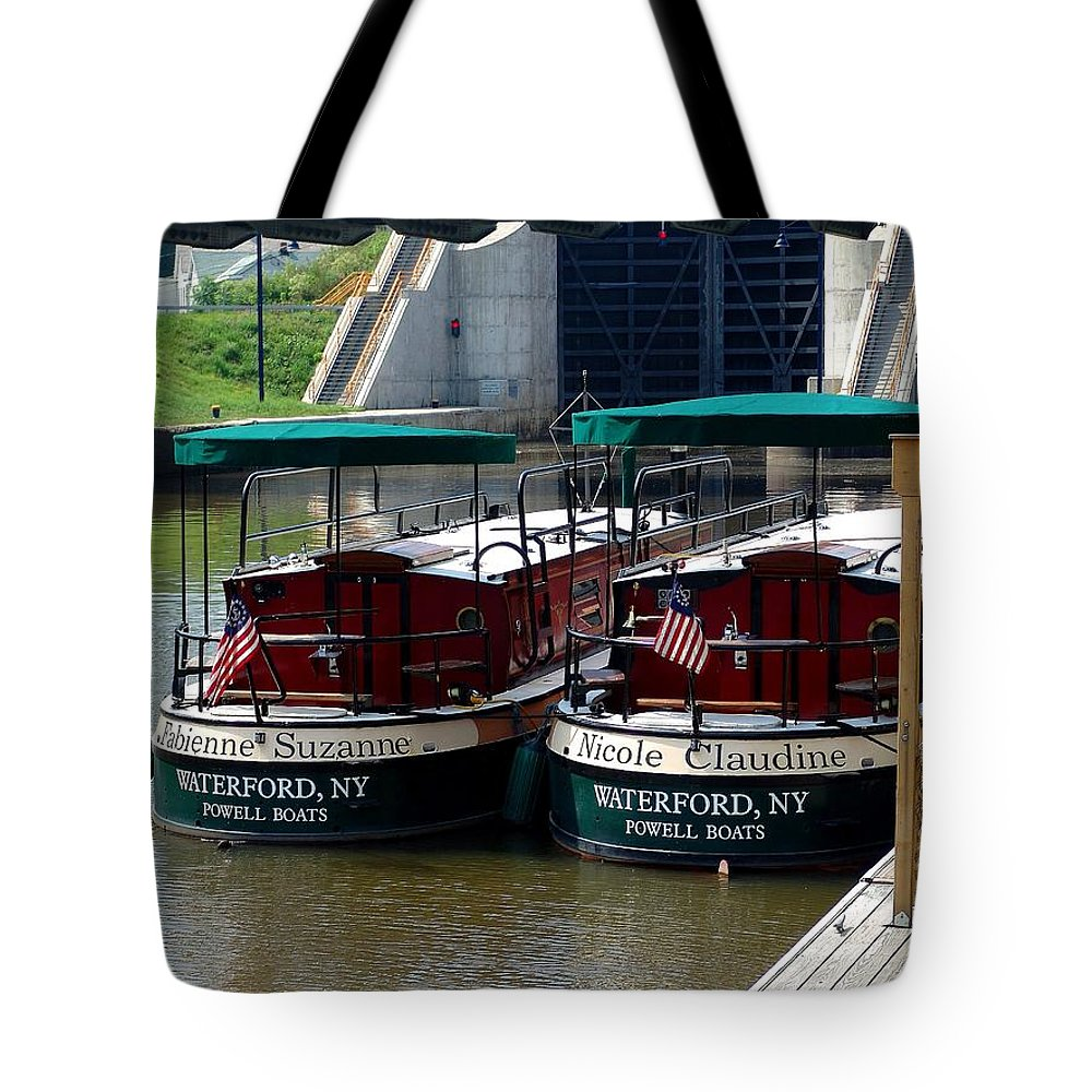 Lock Boats Tote Bag featuring the photograph Powell Boats by Eric Swan