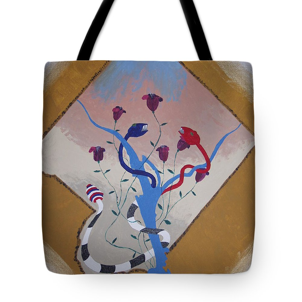 Politics Tote Bag featuring the painting Power Not We The People by Dean Stephens